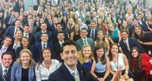 Capitol Hill Intern Selfie Paul Ryan
